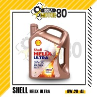 OLI SHELL HELIX ULTRA SN PLUS SAE 0W-20 FULLY SYNTHETIC ISI 4 LITER