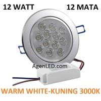Lampu Downlight LED Spot sorot 12W WARM WHITE 12 WATT mata 12 w KUNING