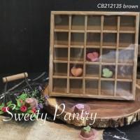 Box Nastar Sekat Mika / Dus Kotak Sekat / Box cookies Gift (CB212135B)