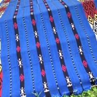 kain tenun ikat biru ASD8917