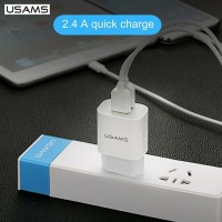 original usams travel charger batok casan 2.4 A