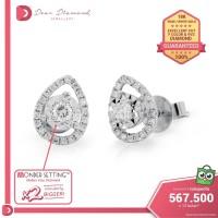 Diamond Earrings 'Ezume' White Gold- Anting Emas Berlian