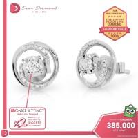 Diamond Earrings 'Uzumaki' White Gold- Anting Emas Berlian
