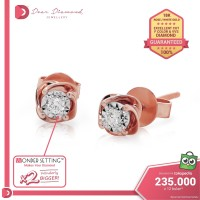 Diamond Earrings 'Rozu' Rose Gold- Anting Emas Berlian