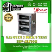 Gas Oven Roti 3 Deck 9 Tray Pemanggang Roti BOV-ARF90H FOMAC