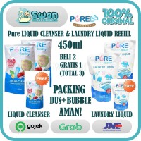 PURE Baby Liquid Cleanser(Cuci Botol) & Laundry Liquid(Deterjen) 450ml
