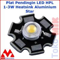 PLAT PENDINGIN LED HPL 1W - 3W HEAT SINK ALUMINIUM PCB HEATSINK STAR