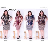 Dress Batik Jumbo 531 Vol52 Baju Batik Wanita Dress Bigsize