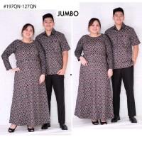 Baju Couple Batik Jumbo Dress Wanita Bigsize dan Kemeja Pria Vol44