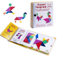 Mantap 360 Questions Travel Tangram Puzzle Magnetic Pattern Block