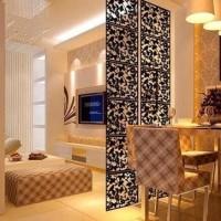 Dekorasi pembatas ruangan vintage pvc 1set isi 4bh - sekat