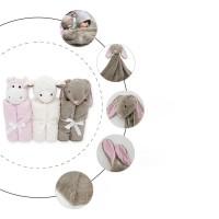 Promo Selimut Bahan Crystal Velvet Aksen Boneka Hewan untuk Bayi