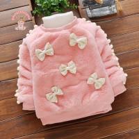 Promo Perfectforyou - Sweater Bayi/Anak Perempuan O-Neck Aksen