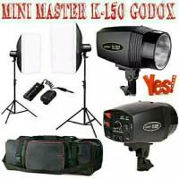 Paket Lampu Studio Mini Godox 150 (Godox 150, Lightstand, Softbox,