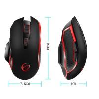 Terbaik g821 Mouse Gaming Wireless 2400DPI 2.4G untuk PC / Laptop