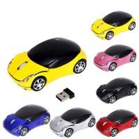 Terbaik Mouse Wireless Optical USB 2.4GHz 1600DPI 3D Bentuk Mobil