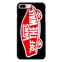 Hardcase iPhone 7 Plus Logo Vans Off The Wall Shoes Red A1330