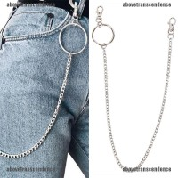 38cm Wallet Belt Chain Rock Trousers Hipster Pant Keychain Ring Clip Keyring SW