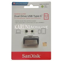 SANDISK FLASHDISK USB 3 OTG TYPE C 64GB UP TO 130 Mbps