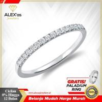 cincin berlian tunangan Classic natural diamond emas 18k AXSVVS56706