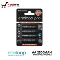 Baterai Panasonic Eneloop Pro ukuran AA isi 4 Pcs Kapasitas 2500Mah