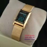 Guess 8570 Jam digital Wanita Rantai pasir Gold