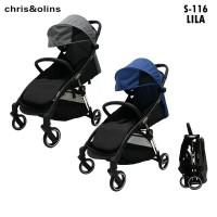 Stroller Chris Olins Lila S116 cabin size lipat otomatis