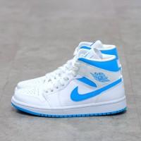 Nike Air Jordan 1 Mid White UNC 100% Authentic