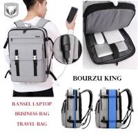 Bourzu Tas Backpack Ransel Laptop & Travel Bag & ANTI Maling Anti Air