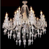 lampu gantung ruangan tamu chandle crystal white exclusive cabang 15