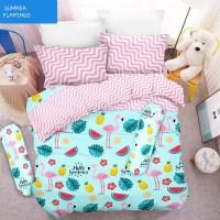Bed Cover Set 3D King NEW VITO motif Summer Flamingo