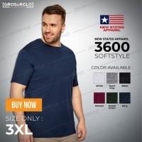 Kaos Polos NEW STATES APPAREL ( NSA ) Softstyle 3600 ORI 3XL Unisex