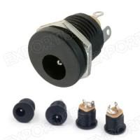 Socket power dc 5.5mm x 2.1mm Mounting + Nut