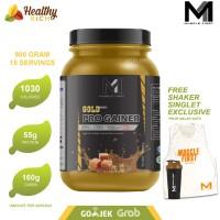 MUSCLE FIRST GOLD PRO MASS GAINER 2lbs alternatif serious mass shaker - Coklat