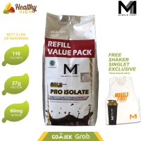 Muscle First Pro Isolate Whey Protein 2lbs 900g REFILL SIZE 30 x saji
