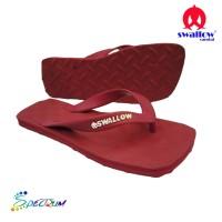 Sandal Swallow Premium Spectrum Pria RubyRed – Tali Merah