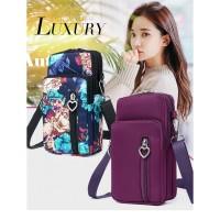 TS115 Korea Luxury Sport Travel Women Mini Sling Bags / Tas Selempang - purple