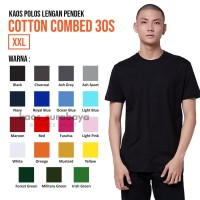 Kaos Polos Cotton Combed 30s Lengan Pendek Yarn Spindle Eco Soft - XXL
