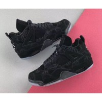 Sepatu Nike Air Jordan 4 KAWS Retro Black Premium Original