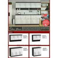 Best Kitchen Set Rak Dapur Rak Bumbu 2 pintu atas + 2 pintu laci bawah