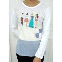 Baju Kaos Wanita Fashion Korea 4 Girl