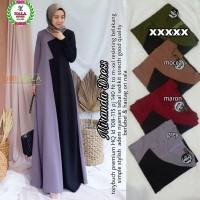 gamis muslim modern terbaru real pict dress muslim kekinian-miranda dr