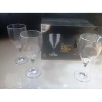 Gelas Medium Goblet 350 ml Premium Plastic Drinkware 6 Pcs - Golden Dr