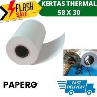 Kertas Thermal 58x30 For printer Bluetooth Thermal Paper Refill