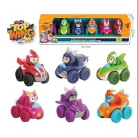 DIECAST TOP WINGS ISI 6 PCS PULL BACK 301056 - MAINAN KOLEKSI ANAK