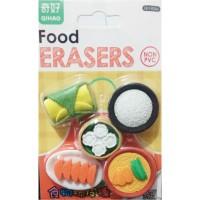 Penghapus Lucu Kawaii Mini Makanan Bento Set
