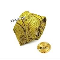 Dasi Pria Warna Gold Motif Batik Wedding and Grooms Import