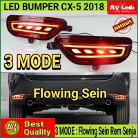 LAMPU LED REFLECTOR BUMPER MAZDA CX5 CX-5 2018 - 3 Function