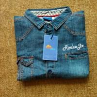 Kemeja denim jeans branded anak Rodeo junior 0419