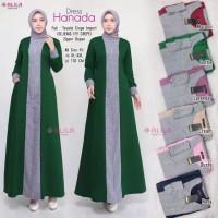 Hanada dress/moscrepe HQ Baju Dress Muslim Wanita Gamis Wanita